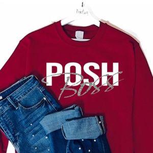 Posh Boss Crewneck Graphic Sweatshirt